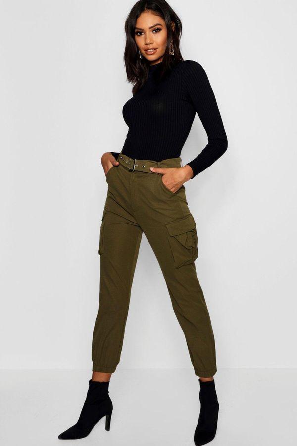 брюки карго с водолазкой