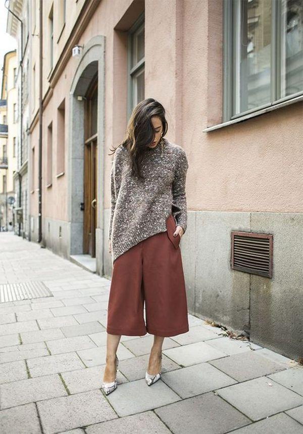 Модные модели брюк-кюлотов 2019 года, с чем и как правильно носить