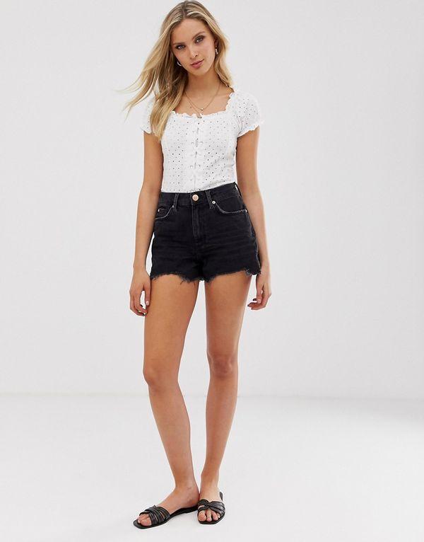 Черные джинсовые шорты