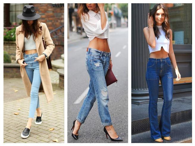 топ с джинсами