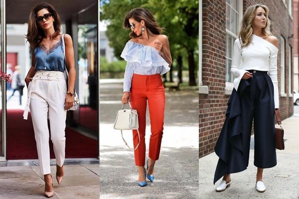 стильные образы с брюками