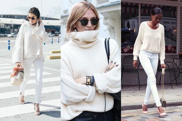 образы с белым свитером