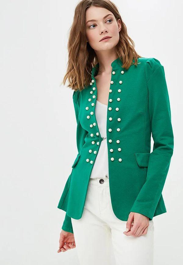 Салатовый пиджак женский