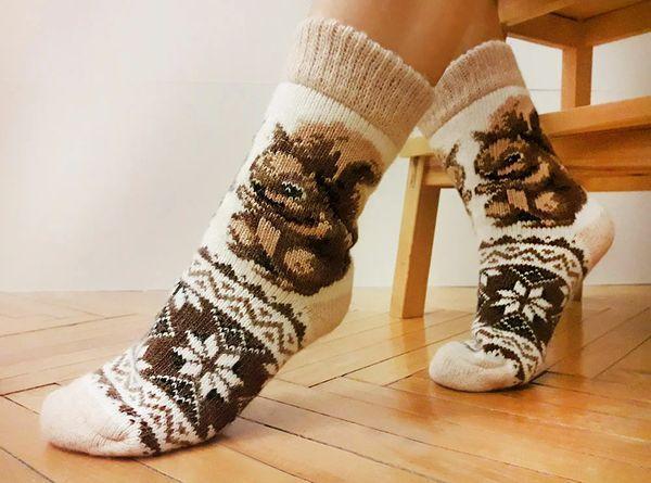 пушистые носки