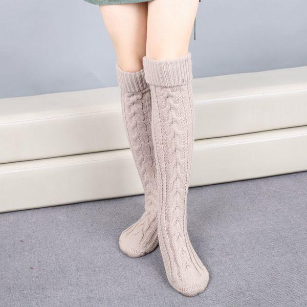 Длинные шерстяные носки