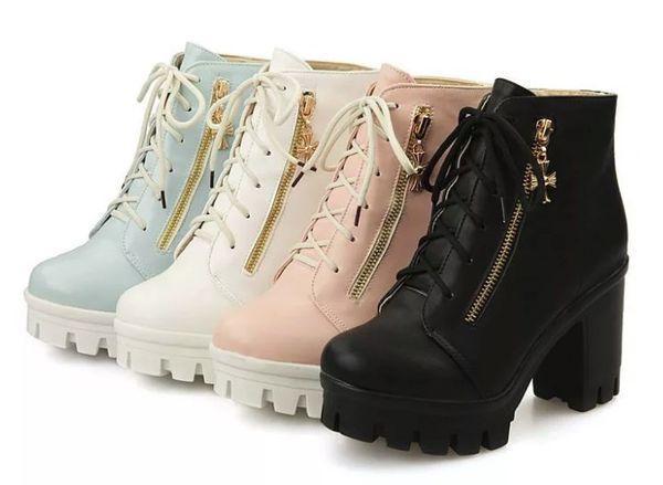 Осенние ботинки женские на платформе