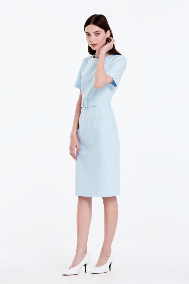 Модные модели и фасоны голубого платья, с чем носить и обзор стильных луков