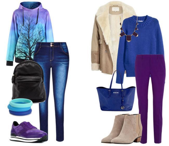 Сочетание синего цвета с другими цветами в женской одежде и обзор стильных луков
