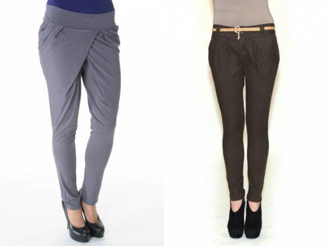 женские брюки галифе с запахом