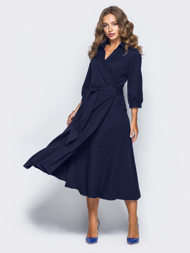 платье халат на запах