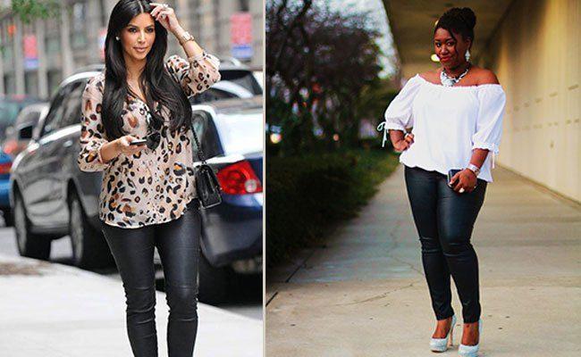 кожаные брюки для полных женщин