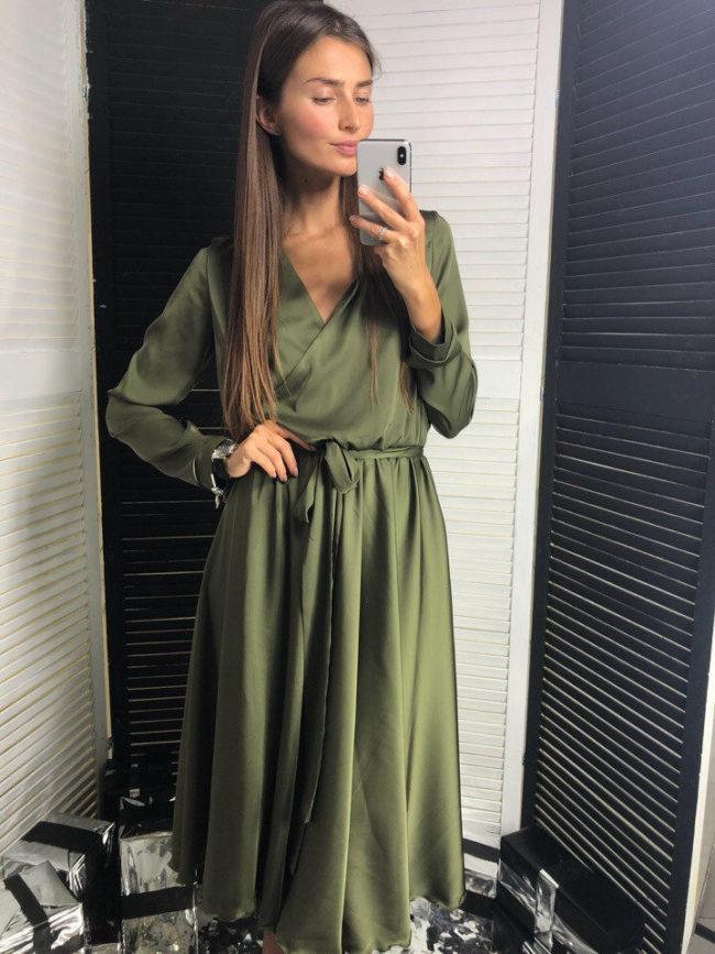 платье халат из шелка