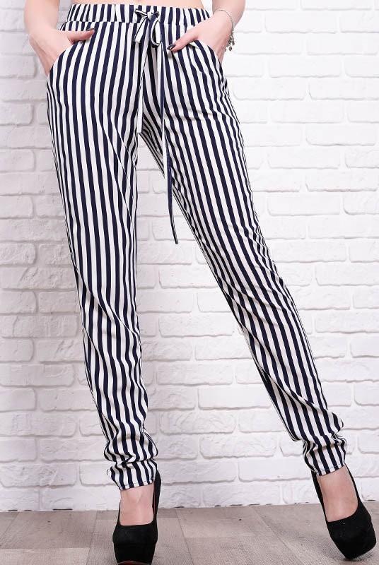 женские брюки галифе в полоску