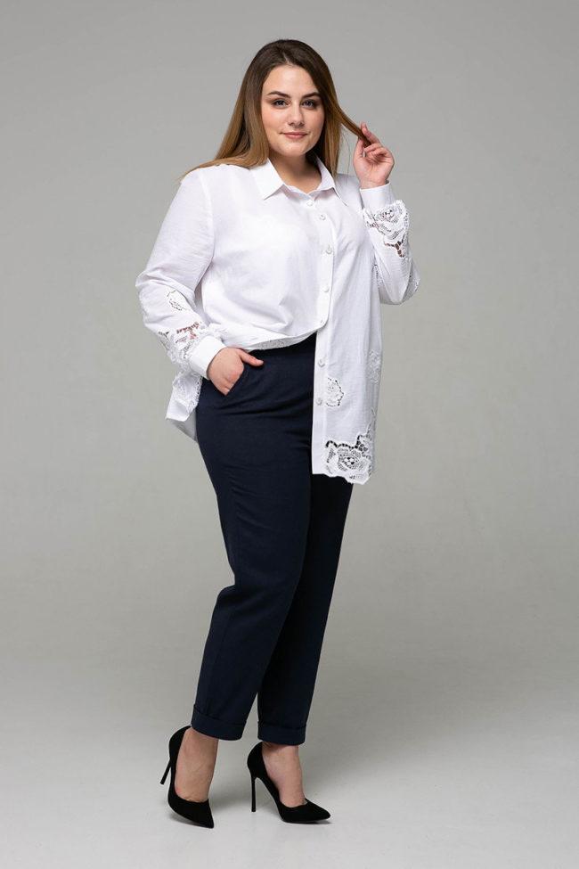 брюки с рубашкой для полных женщин