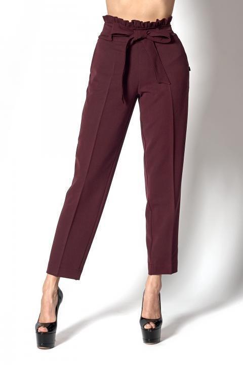 женские брюки галифе бордового цвета
