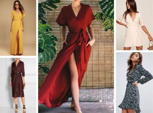 модные платья-халаты