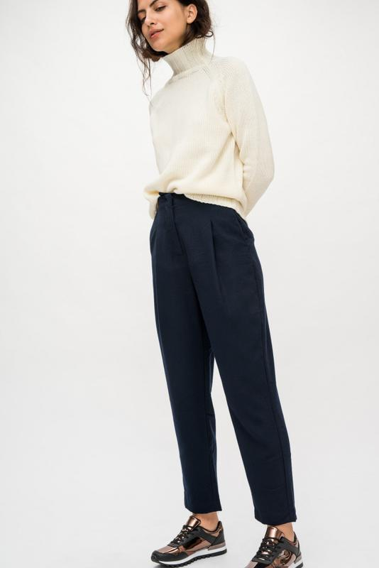зимние брюки с завышенной талией