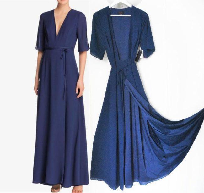 платье халат макси