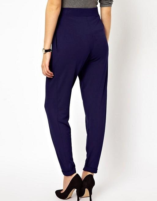 синие женские брюки галифе