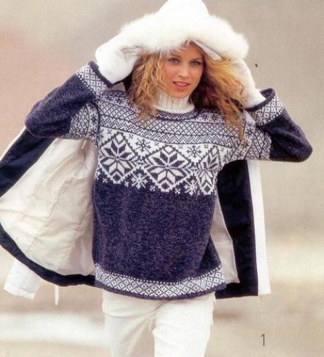 свитер зимний