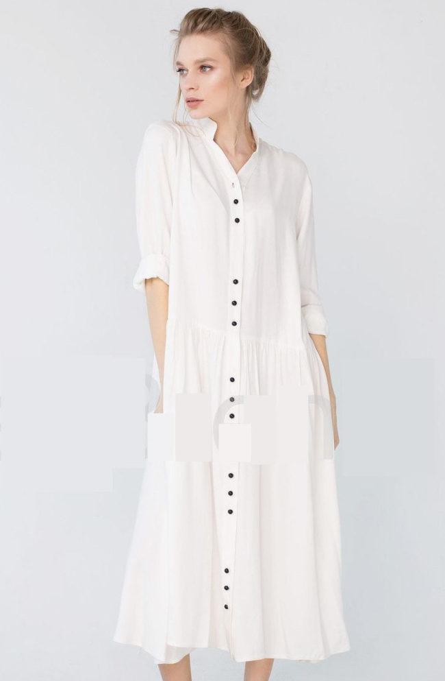 платье халат из хлопка