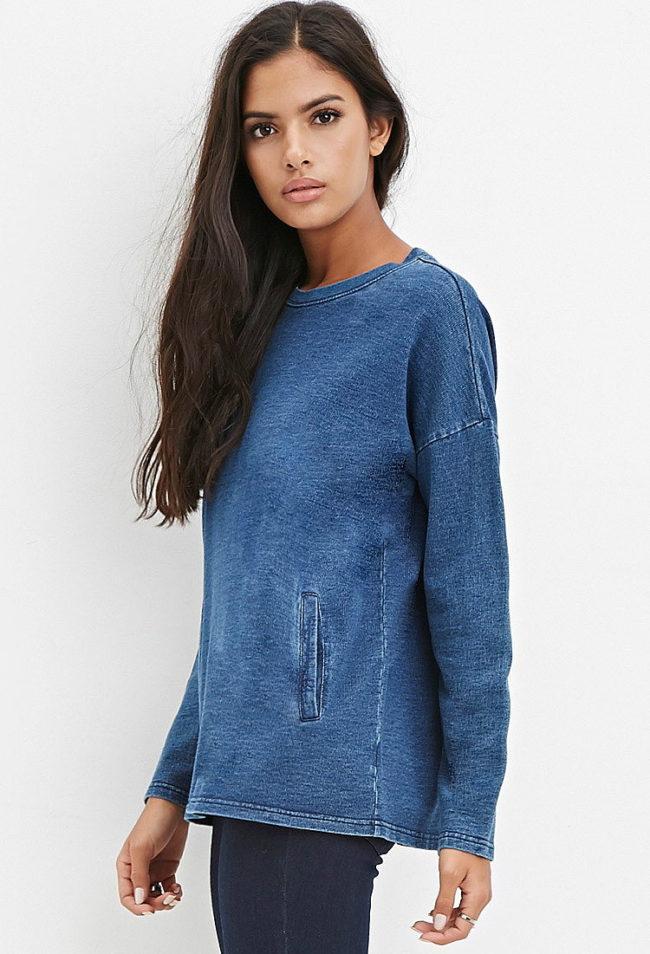 джинсовый свитер