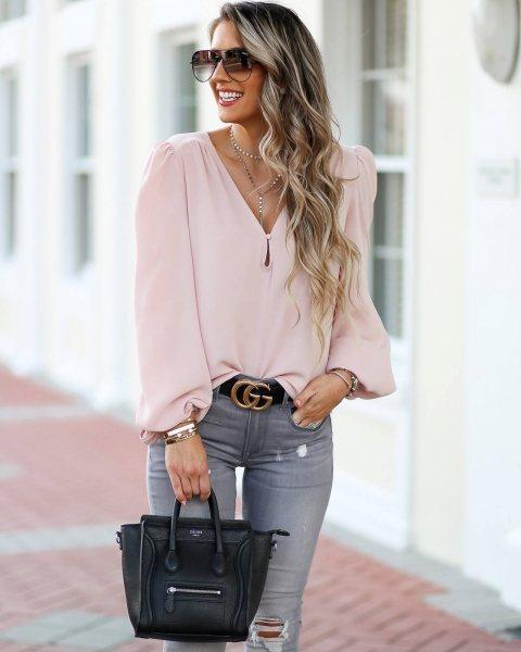 Модные фасоны женских серых джинсов, с чем носить и стильные образы