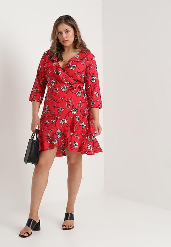 платье халат в цветочек