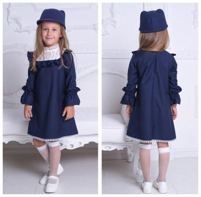 школьное платье из льна