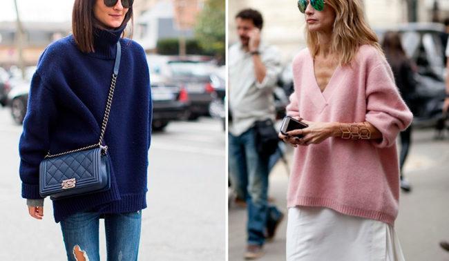 луки со свитером