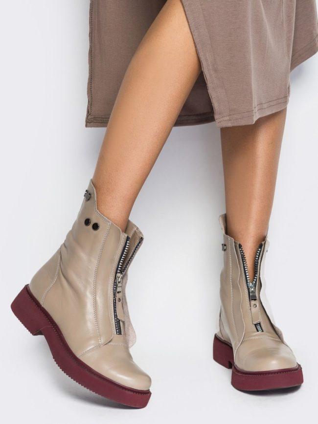 Фасоны и модели осенних женских ботинок, выбор по сезону и модные образы