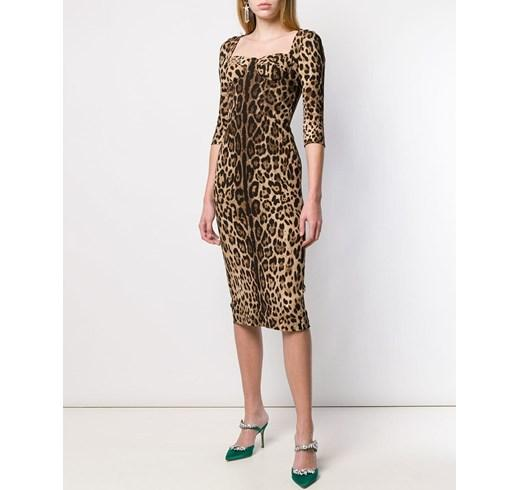 леопардовое платье-карандаш
