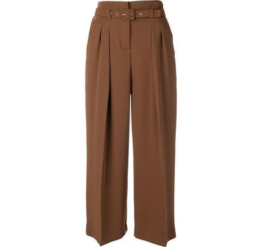 коричневые широкие брюки
