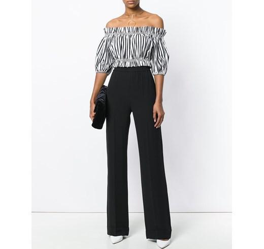 брюки с завышенной талией широкие