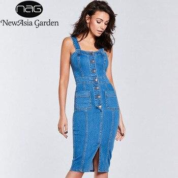 джинсовое платье-карандаш