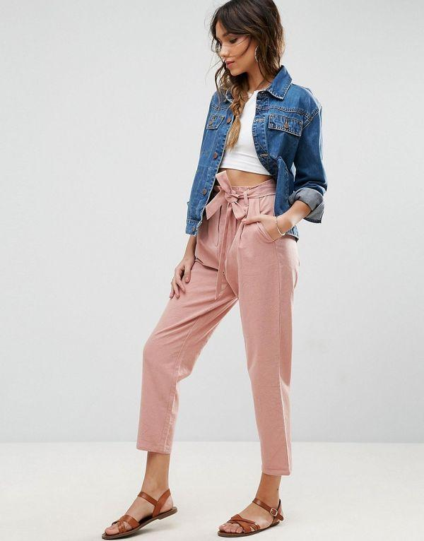 брюки с завышенной талией