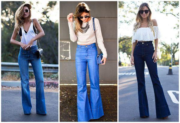 Советы стилистов, с чем носить разные модели женских брюк-клеш и красивые образы 2019 года