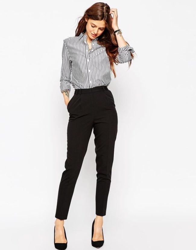 классические брюки брюки с завышенной талией