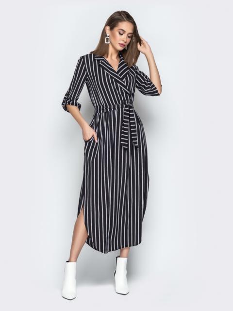 платье халат в полоску