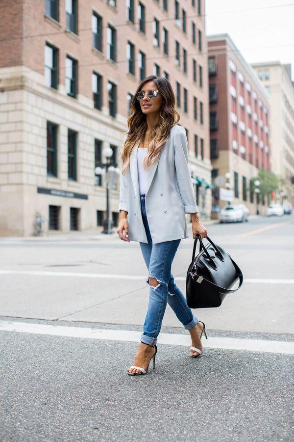 Стильные женские модели двубортного пиджака, отличия от однобортного жакета и с чем носить