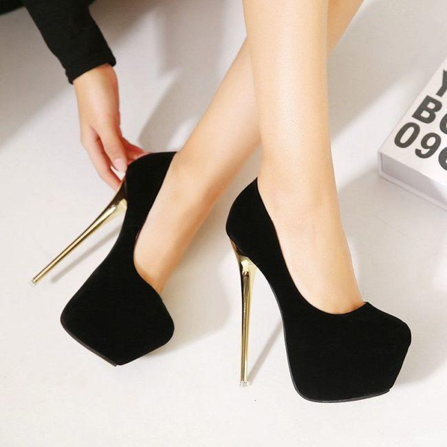 туфли на каблуке 16 см