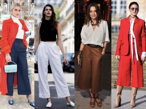 широкие брюки в деловом стиле