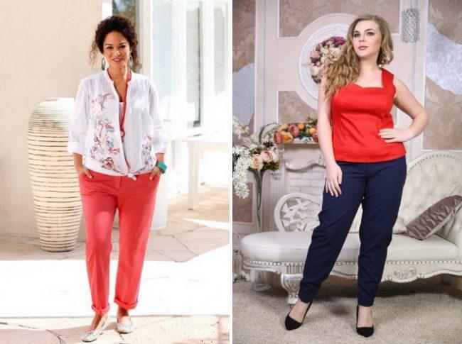 чинос брюки для полных женщин