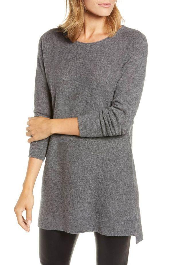 свитер из кашемира серый