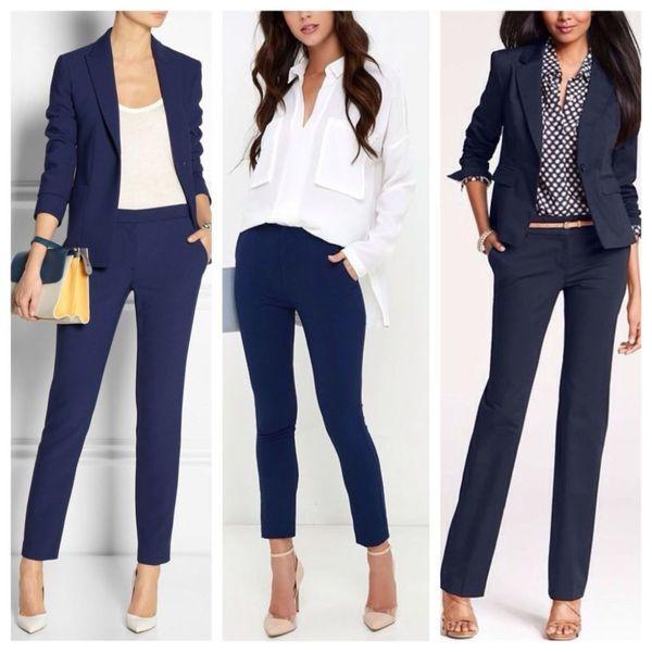 сочетание классических штанов – с блузками