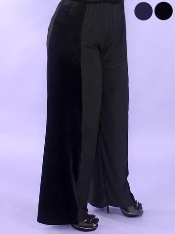 брюки из велюра для полных женщин