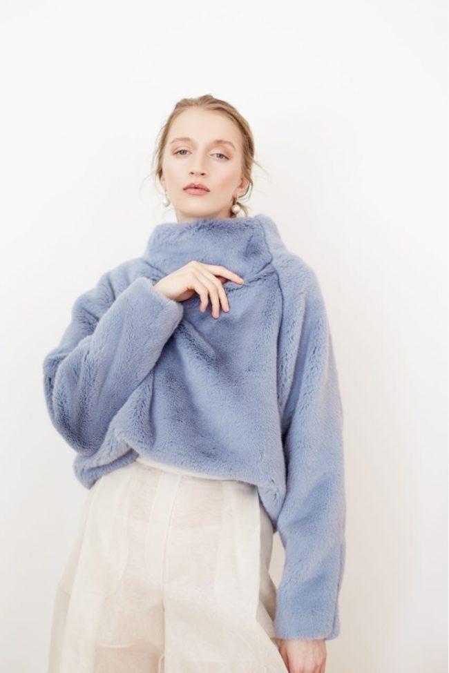 свитер на меху