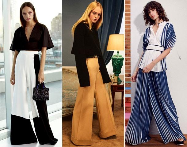 широкие брюки тенденции