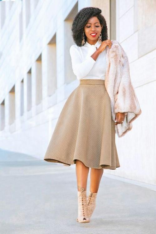 юбка миди с блузой