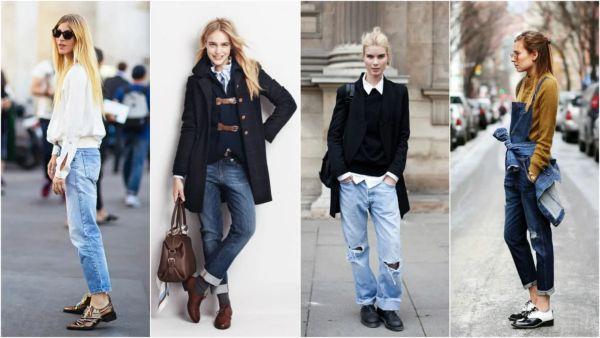 оксфорды под джинсы